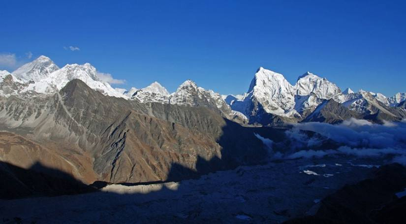 Mountain view from Everest Base Camp